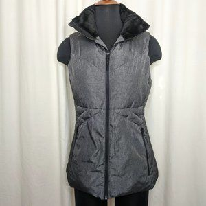 Champion Charcoal Gray Lined Zip Up Vest (M)